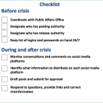 US Army Krisen-Checkliste